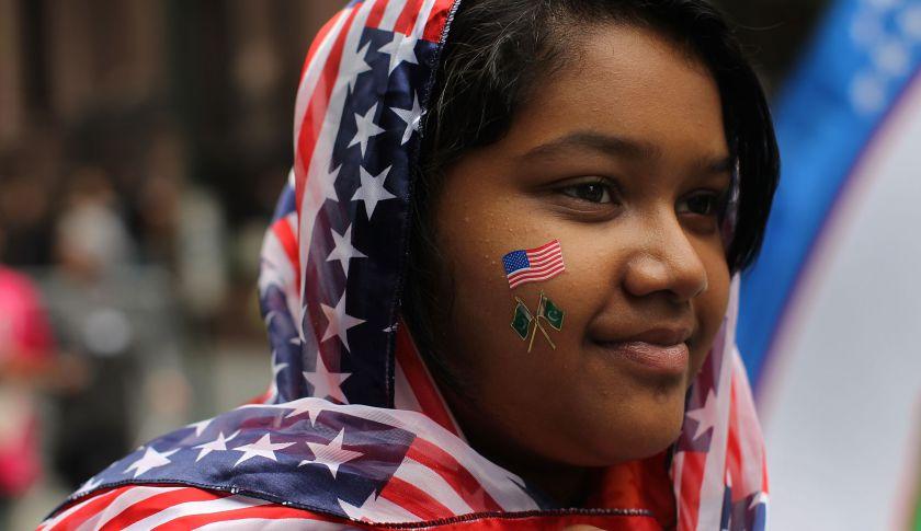 US Muslim girl