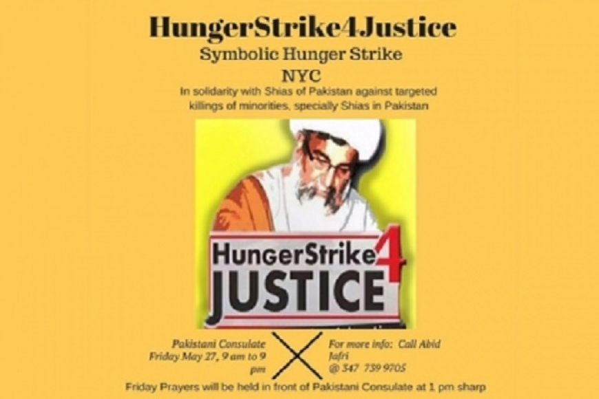 Hunger Strike In New York City To Denounce Killing Of Shia Muslims