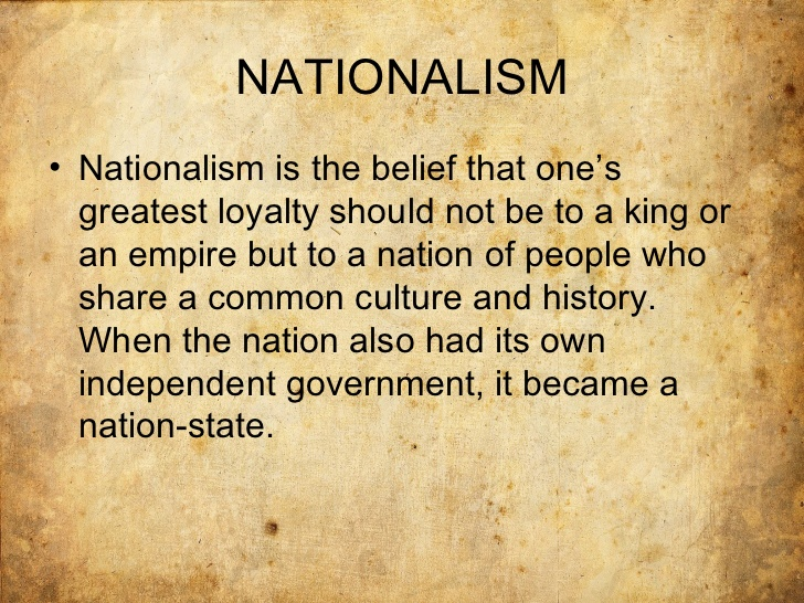 militant nationalism definition Nationalism, ideology based on the premise that the individual's loyalty and devotion to the nation-state surpass other individual or group interests nationalism is a modern movement.