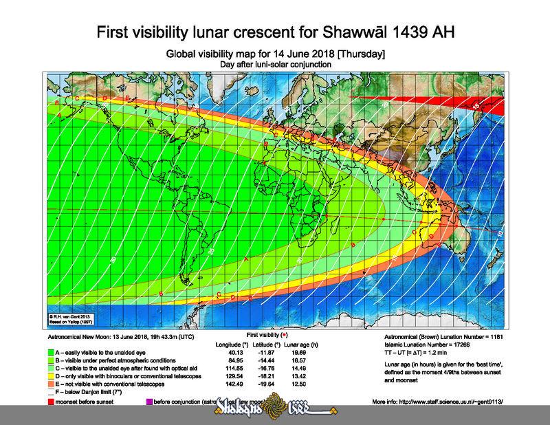 Map Of Uk On Globe.Moon Visibility Map For 14 June 2018 Thursday Uk Globe