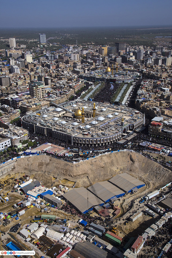 Photos: The unfinished project of AlEqeeleh Zaineb Sanctuary in Karbala