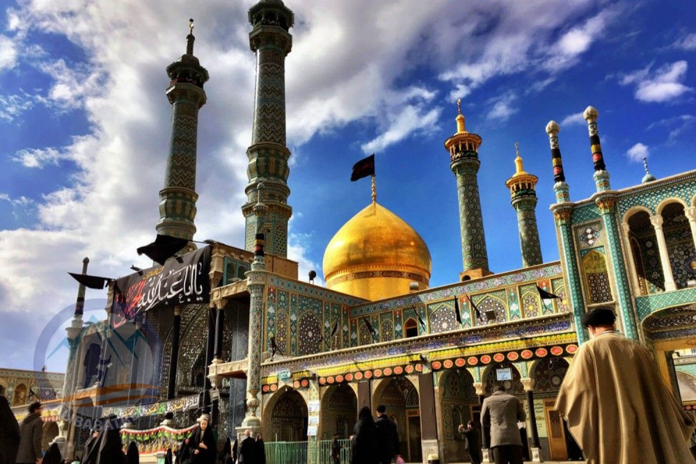 The presence of 15,000 European tourists in holy shrine of lady