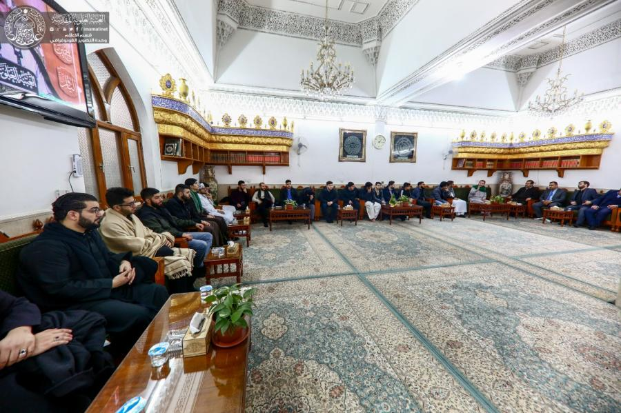Photos: Delegations of Britain and America had the Honor to visit the Holy Shrine of Imam Ali (A.S)