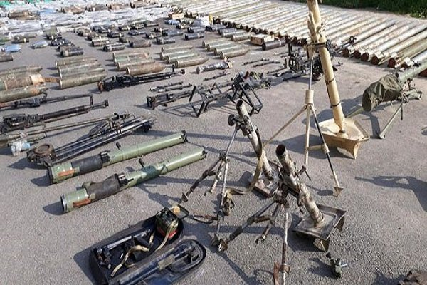 Photo: US, Israeli weapons left behind by terrorists found