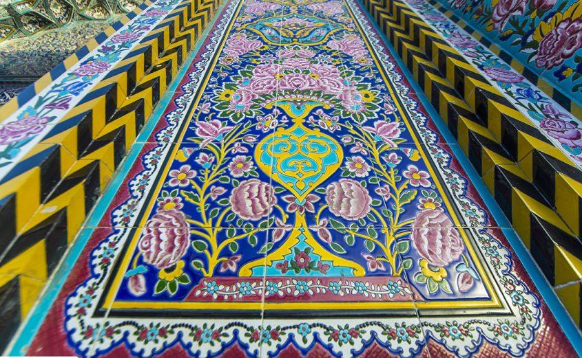 Fantastic Islamic decorations inside Imam Hussain Holy Shrine