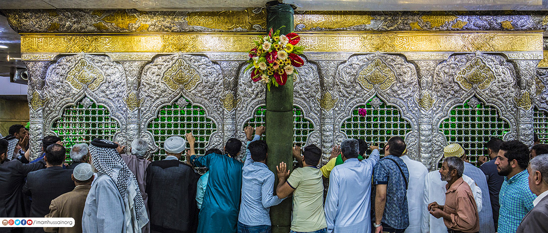 Photos: Imam Husayn's Lattice-enclosed tomb on his birth anniversary
