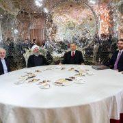 Recep Tayyip Erdogan, Hassan Rouhani, Vladimir Putin