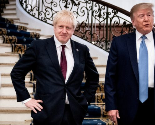 Boris Johnson, Donald Trump, JCPOA, Iran