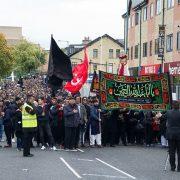 en.shafaqna-Shia Muslims in UK participate Muharram mourning ceremonies