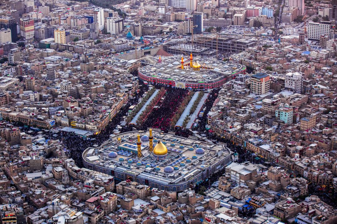 Photos: Aerial pictures of the millions of mourning people in Karbala