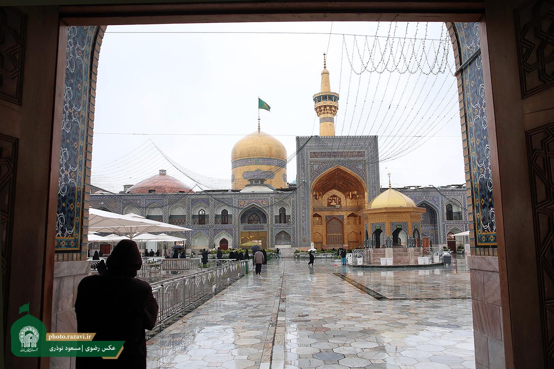 Raining at Razavi Holy Shrine