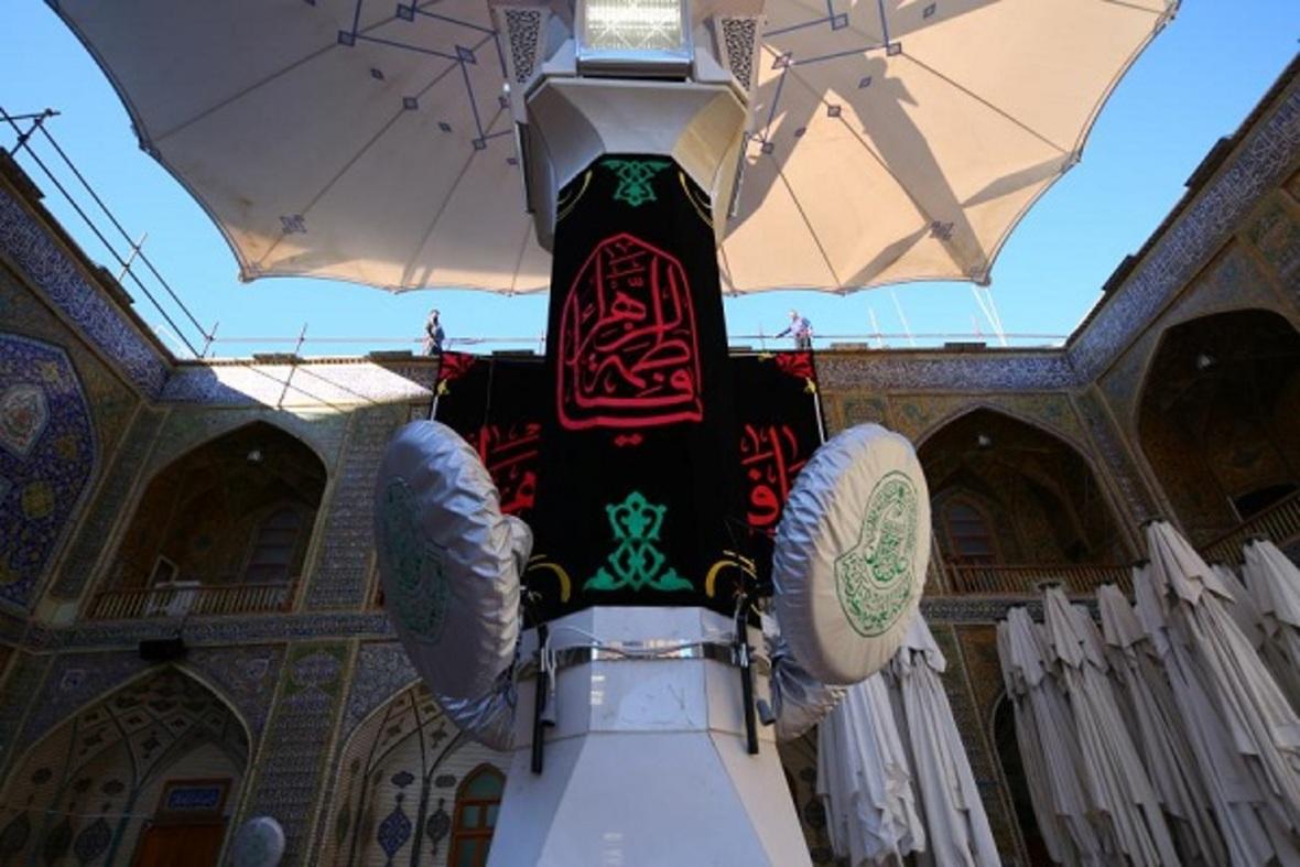 Imam Ali's (A.S) Holy Shrine Covered in Black