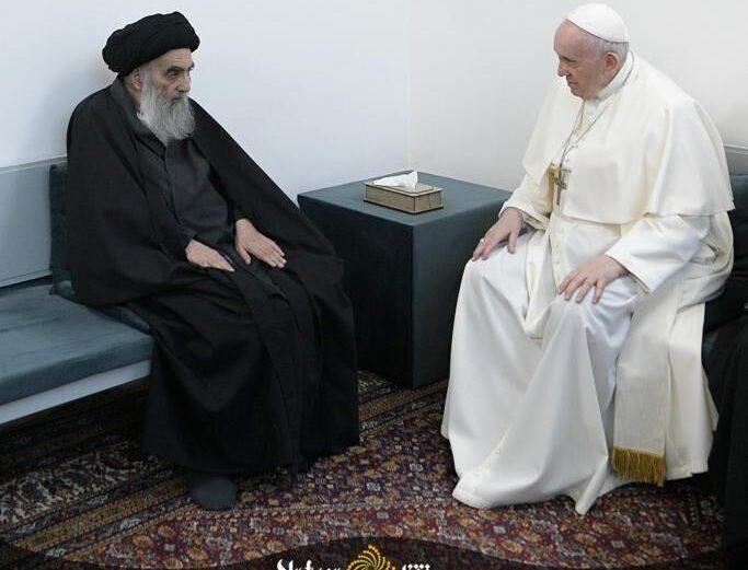Pope Francis meets Grand Ayatollah Sistani