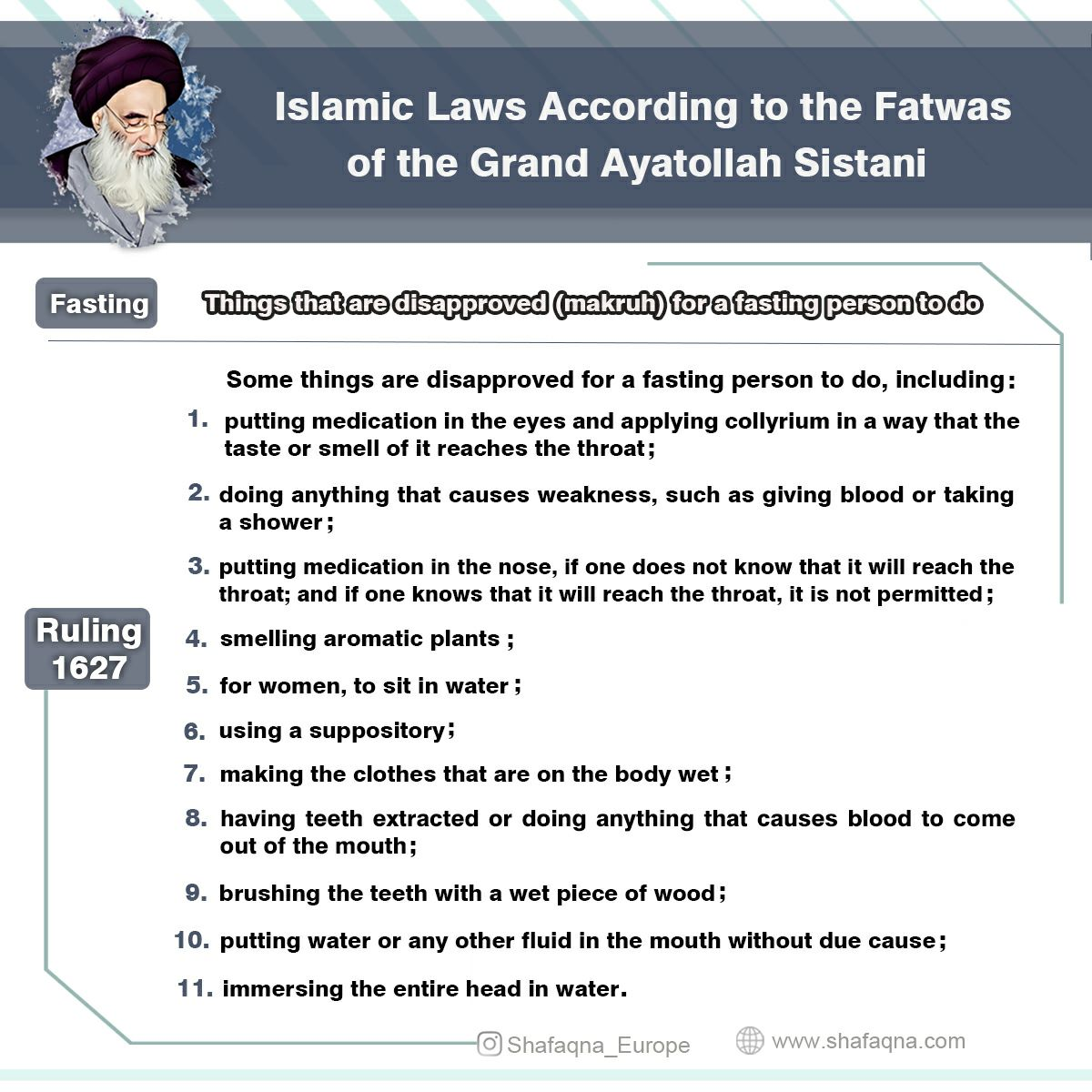 Fatwa on fasting, Ayatollah Sistani
