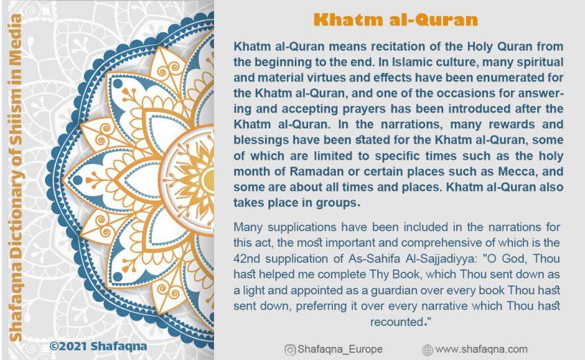 Shia Graph, Khatm al-Quran