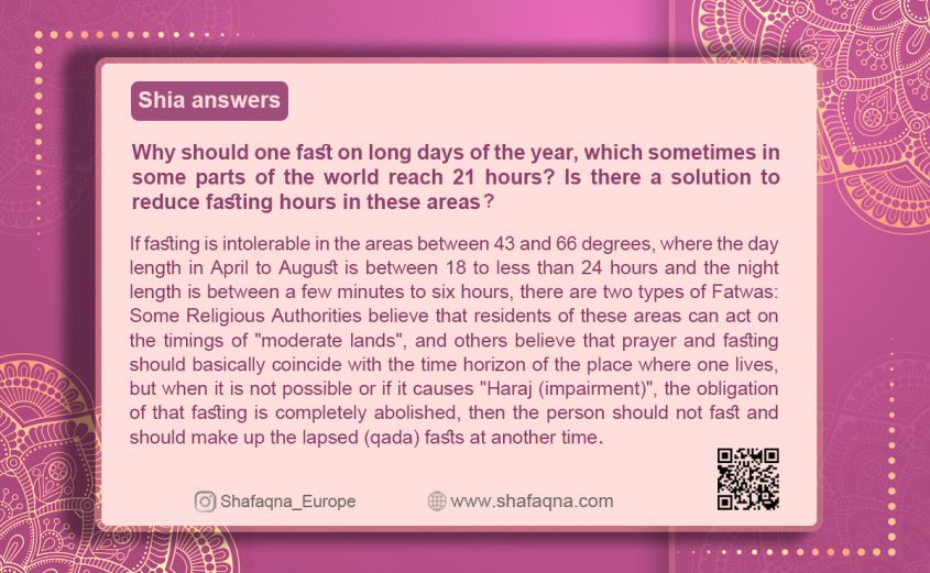 Shia answers, fasting 21 hours
