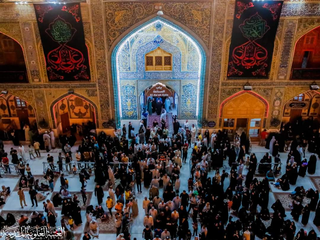 Photos: On martyrdom anniversary of Imam Ali, his holy shrine covered with black flags