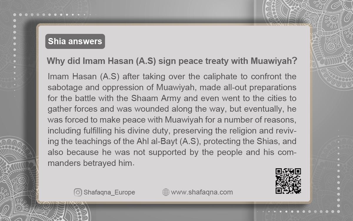 Shia Answers, Shia Graph, Imam Hasan peace treaty