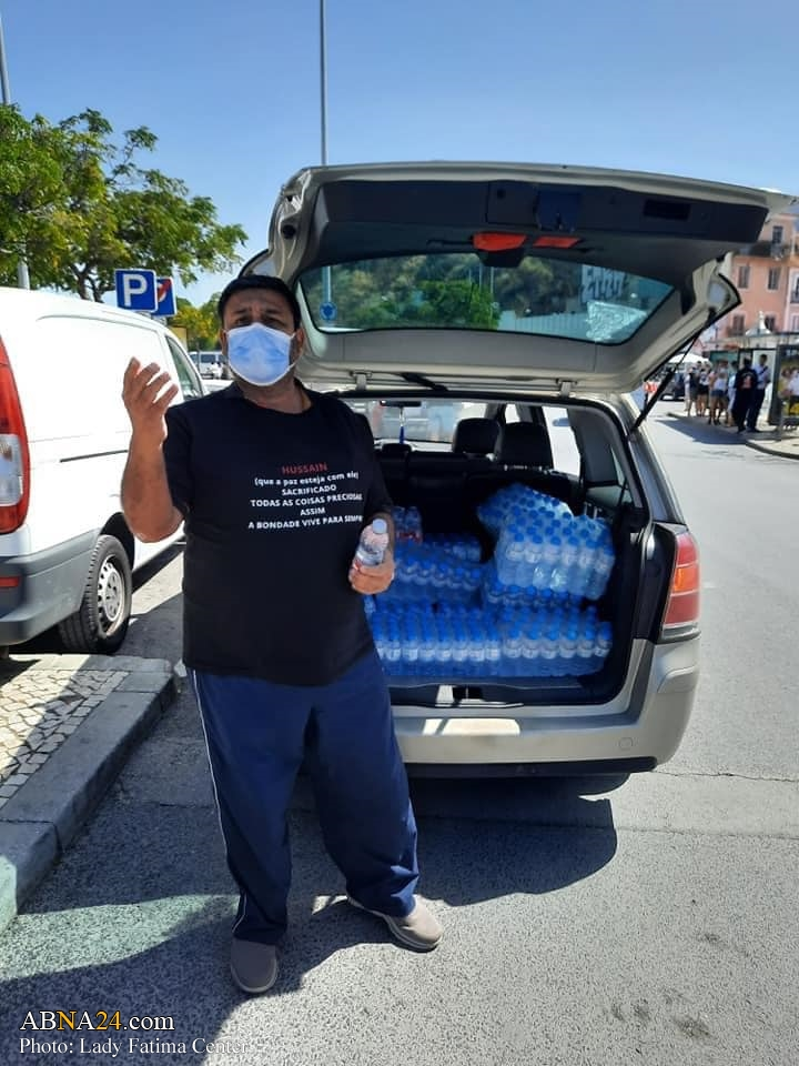 Photos: Distribution of drinking water in the name of Imam Hussain (A.S) in Lisbon